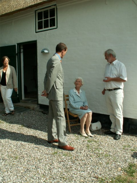H.K.H. Prins Joachim i samtale med Bitten Clausen og Museumsinspektør Flemming Rieck